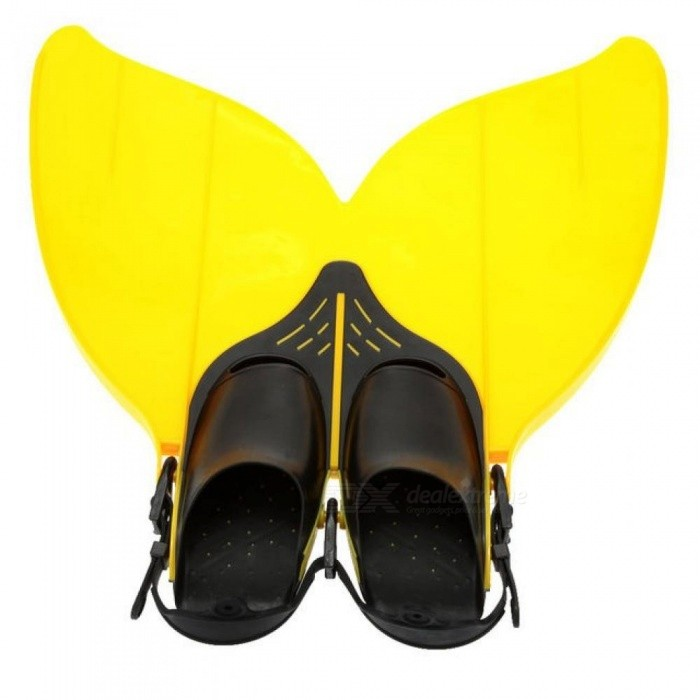 Kids-Children-Professional-Scuba-Diving-Swimming-Fins-Short-Flippers-Snorkeling-Shoes-Free-Swim-Training-Mermaid-Flipper-Monofin-Yellow