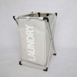 X-Frame-Foldable-Laundry-Basket-Thick-Oxford-Waterproof-Bathroom-Dirty-Clothes-Basket-High-Capacity-Laundry-Hampers-Black