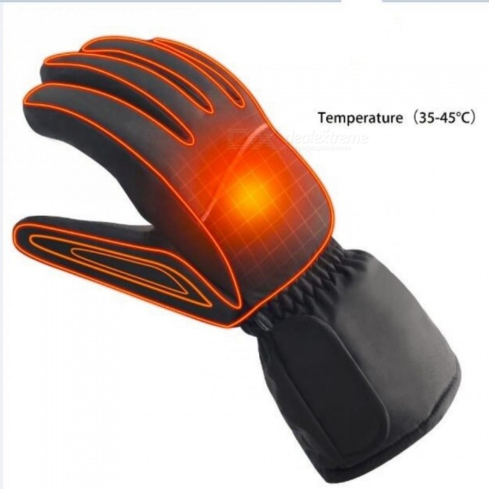 4.5V Electric Heating Gloves With AA Battery Powered Heated Gloves For Men And Women With Black Color 7-9/4.5V No Batteries