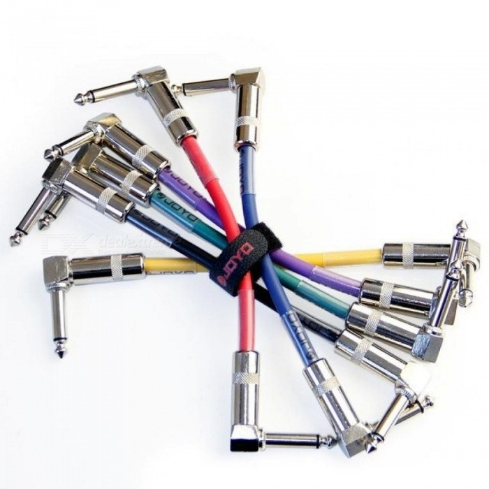 Effects-Pedal-Cable-for-Bass-Guitar-6-PCS-Per-Lot-With-Colorful-Pedal-Cable-Length-10-CM-For-6-Color-6pcsLot