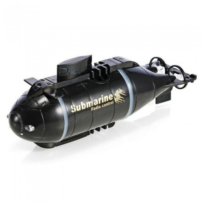 Mini RC Submarine Speed Boat Remote Control Drone Pigboat Simulation Model Gift Toy Kids With Black Color Black