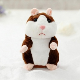 15cm Lovely Talking Hamster Speak Talk Sound Record Repeat Stuffed Plush Animal Kawaii Hamster Toys   Gray