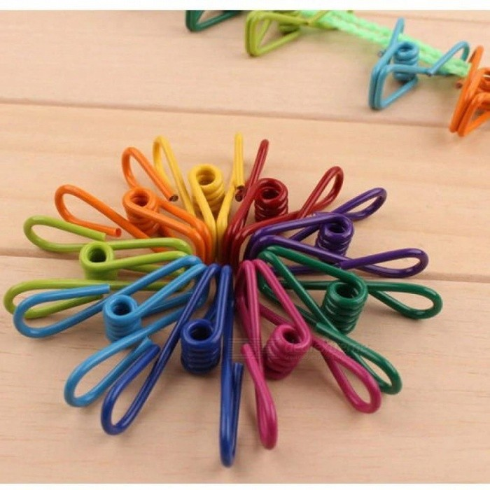 Stainless-Steel-Spring-Clothes-Sock-Useful-Photo-Paper-Hanging-Pegs-Colorful-DIY-Clips-Pin-Clamps-Laundry-30-PCS-30pcs