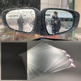 Car-styling Auto Anti Fog Rainproof Rear View Mirror Window Clear Protective Film Car Clear Rearview Mirror Stickers A