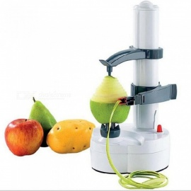 Electric Auto Rotating Potato Peeler Pear Fruit Vegetable Cutter Slicer Kitchen Utensil Stainless steel + ABS Material A