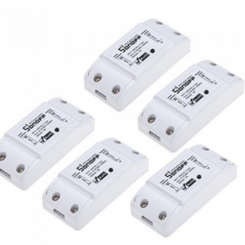 Basic Wireless Wifi Switch Remote Control Automation Module DIY Timer Universal Smart Home 10A 2200W/220v for Alexa 5 PCS 5pcs