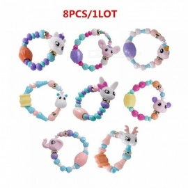 Cute Kawaii Animal Magic Tricks Petz  Creative Elasticity Bracelet Girl Bracelets For Xmas Gifts 8PCS/Lot 8pcs/Lot