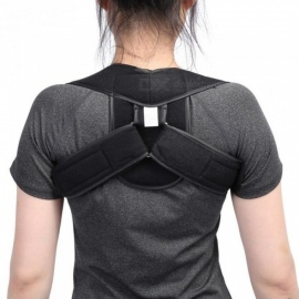 Adjustable Upper Back Shoulder Support Posture Corrector Adult Children Corset Spine Brace Back Belt Orthotics Back Support S/Skin Color