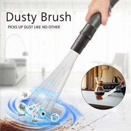 Multi-functional Dust Daddy Brush Cleaner Dirt Remover Portable Universal Vacuum Attachment Tools Black Black