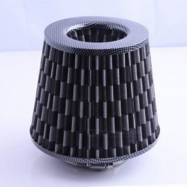 Gray Universal Chrome Finish Car Air Filter Induction Kit High Power Sports Mesh Cone Chrome Finish Air Filter Z1115 5 UP Gray