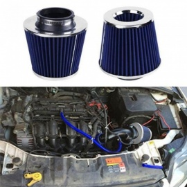 Air Filter Auto Vehicle Car Cold Air Intake Filter Cleaner Funnel Adapter 76mm Inlet Air Filter High Flow High Cold Air Cone A