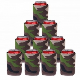 Camouflage Beer Can Cooler Soda Beverage Sleeve Holder Wrap Hens Night Party Favors Gifts 10 Pieces / Lot 10pcs/Lot