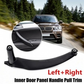 Black Left/Right Car Interior Door Handles Inner Door Panel Handle Pull Trim Cover For BMW E70 X5 Black Left