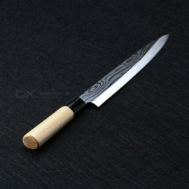 Laser Damascus Chef Knives Japanese Salmon Sushi Knives Stainless Steel Sashimi Kitchen Knife Raw Fish Fillet Layers Cooking Kni Stainless Steel