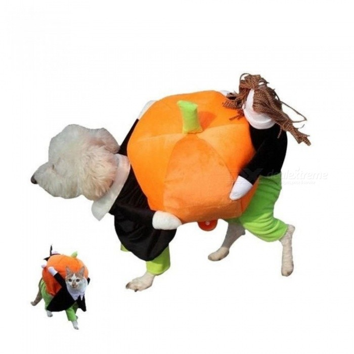 CellDeal New hot sale Funny Pet Dog Lifting pumpkin Rodeo Cowboy Costume Halloween Party Clothing Clothes Dress for the holidays