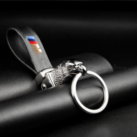 Eagle Head Car Styling Car Key Ring Holder Keychain Man's Strap Car Key Chains For BMW E39 E46 E60 E90 F10 F30 F18 E36 X Series Black