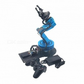 6DOF Mechanical Robot Arm With Digital Servo and Controller For DIY Unassembled Metal Material Blue Color A