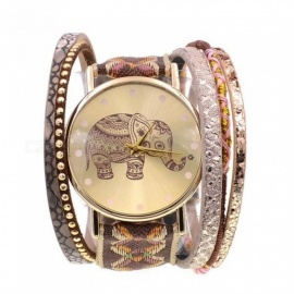 Women Watch Leather Bracelet Watch Fashion Casual Ribbon Elephant Quartz Watches For Women 17CM 18CM 19CM 17cm