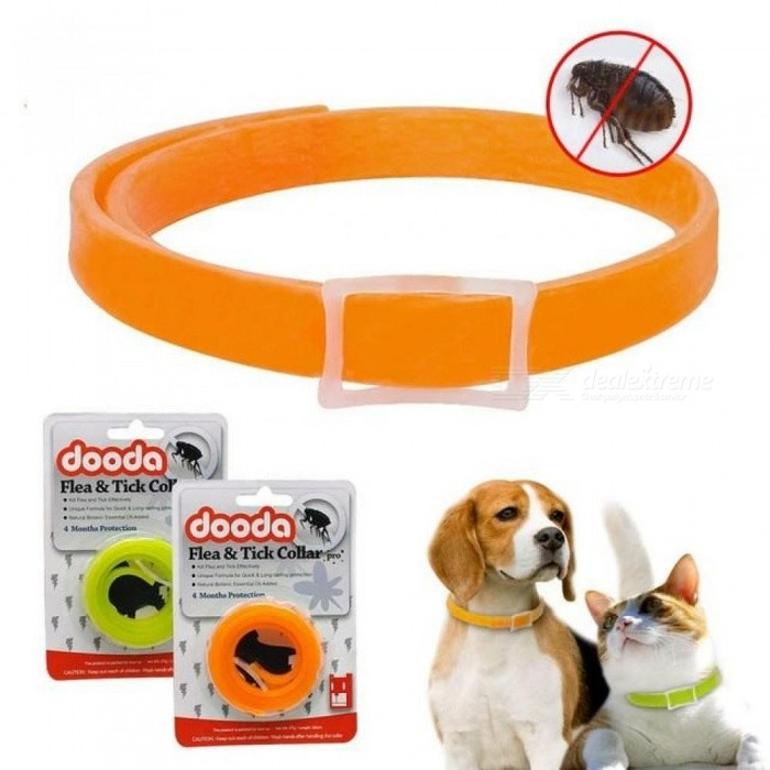 Insecticidal Anti Flea Pet Dogs Cat Collar Adjustable Anti-insect Mosquitoes Dog Ring Neck Straps Dog Protection 33cm/Green
