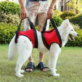 Pet-Dog-Harness-Walk-Out-Hand-Strap-Vest-Dog-Lift-Support-Lifting-Band-Pets-Assist-Travel-Kit-Dogs-Collar-Leash-Dog-Harness-SRed-Front-Legs