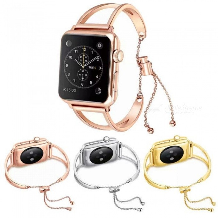 Women-Girls-Bracelet-Watch-Strap-For-Apple-Watch-Band-38mm-42mm-I-watch-Series-4-3-2-1-Luxury-Stainless-Steel-Replacement-Band-For-38mmRose-gold