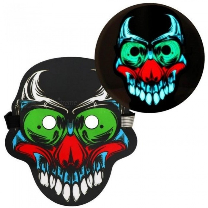 Halloween-Full-Face-Scary-Mask-Sound-Activated-Reactive-LED-Light-up-Mask-3D-SkullClown-Halloween-Party-Rave-Mask-B