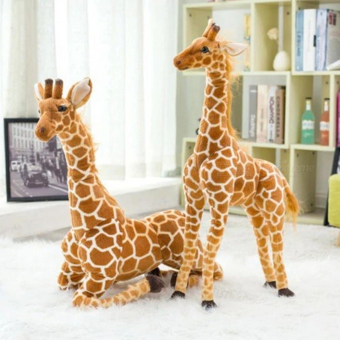 Buy Cute Big Giraffe Wild Simulative Animal Soft Plush Toy Kids Children Birthday Christmas Gift 60cm 80cm 100cm 120cm 60cm with Litecoins with Free Shipping on Gipsybee.com