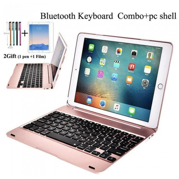 For-iPad-97-2017-2018-A1893-Wireless-Bluetooth-Keyboard-Case-Cover-For-iPad-5-6-Air-Air-2-Pro-97-Keyboard2bFilm2bpen-Black