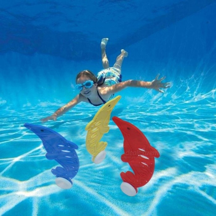 Dive Ring Throwing Dolphin Toys Swimming Pool Diving Water Toys for Kids Diving Underwater Diving Buoys Pool Accessories 3PCS 3pcs