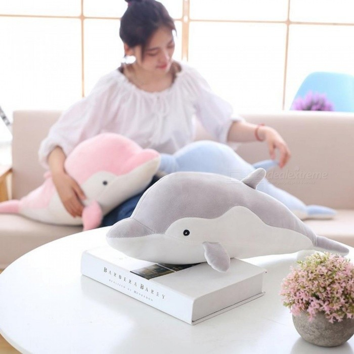 Dolphins-Pillow-Doll-Plush-Toys-Dolphins-Doll-Present-Lovers-50CM-Gray-Pink-Blue-Color-With-PP-Cotton-Blue