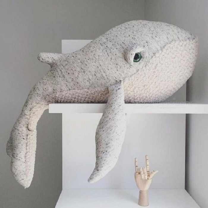 Cute Animals Dolphin Octopus Cushion Pillow Stuffed Plush Dolls Calm Sleep Toys Nordic Style Kids Photo Props Bedroom Decor Octopus