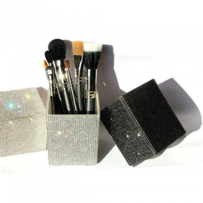 Big Diamond Mermaid Makeup Brush Holder Crystal Rhinestone Makeup Brush Set Case Makeup Brushes Organizer Container Cup Cosmetic 1