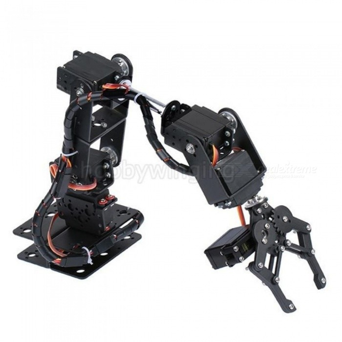 6 DOF Robot Manipulator Metal Alloy Mechanical Arm Clamp Claw Kit MG996R DS3115 for Arduino Robotic Education Bracket