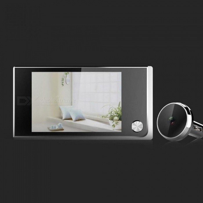 Digital Door Viewer Doorbell Security Camera Electronic Cat Eye 3.5quot LCD 120 Degree Viewing Angle ABS Material 3.5 Inches