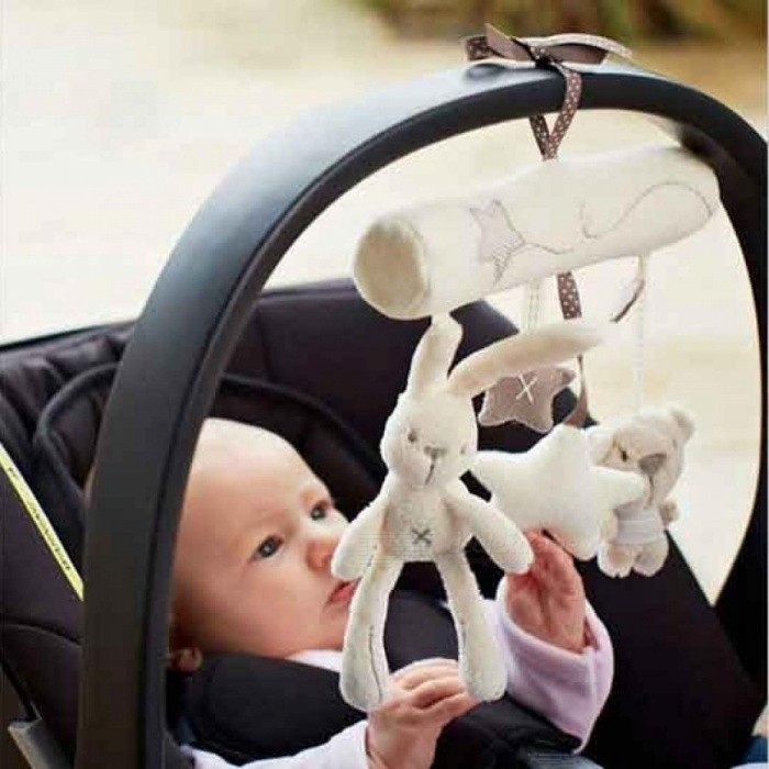 Buy Rattle Toys hanging toy baby Stroller Rabbit Squishy Hanging rattle Bunny Plush Hanging Bed Plush Rabbit Hang Toys 21cm*20CM 21*20cm with Litecoins with Free Shipping on Gipsybee.com