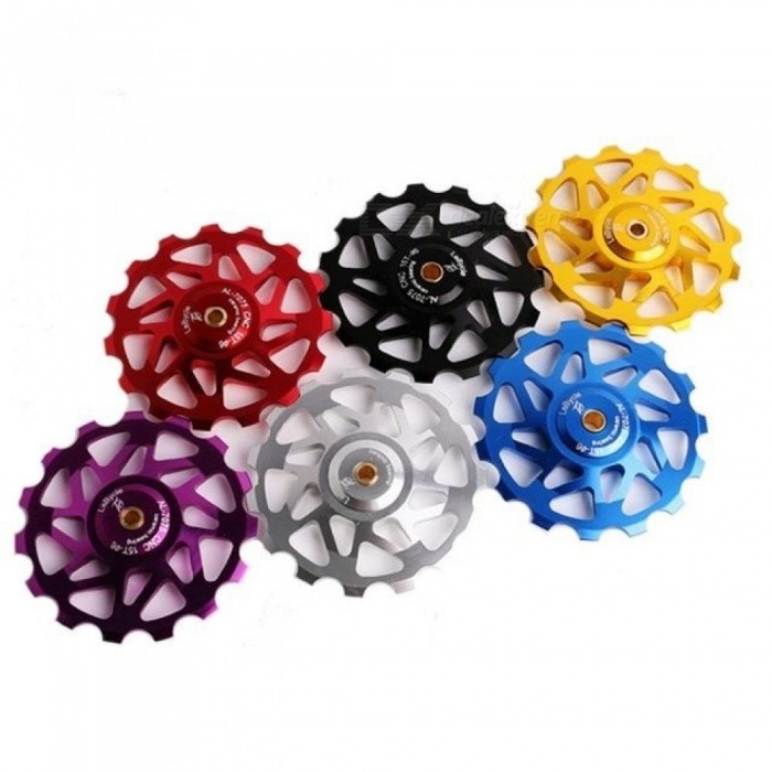 Bicycle-Accessories-Fidget-Spinner-Gear-Aluminum-Alloy-Ceramic-Bearing-Hand-Spinner-With-Multi-Color-Optional-Blue