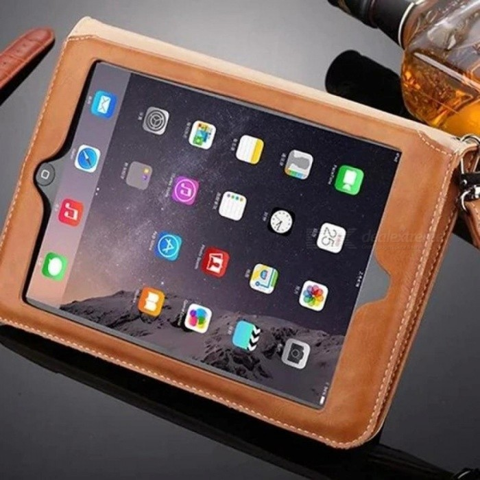 Mini 3/2/1 Retro Briefcase Hand Belt Holder Leather Case For Apple iPad Mini 1 2 3 Auto Wake Up /Sleep Stand Flip Bags Cover Orange