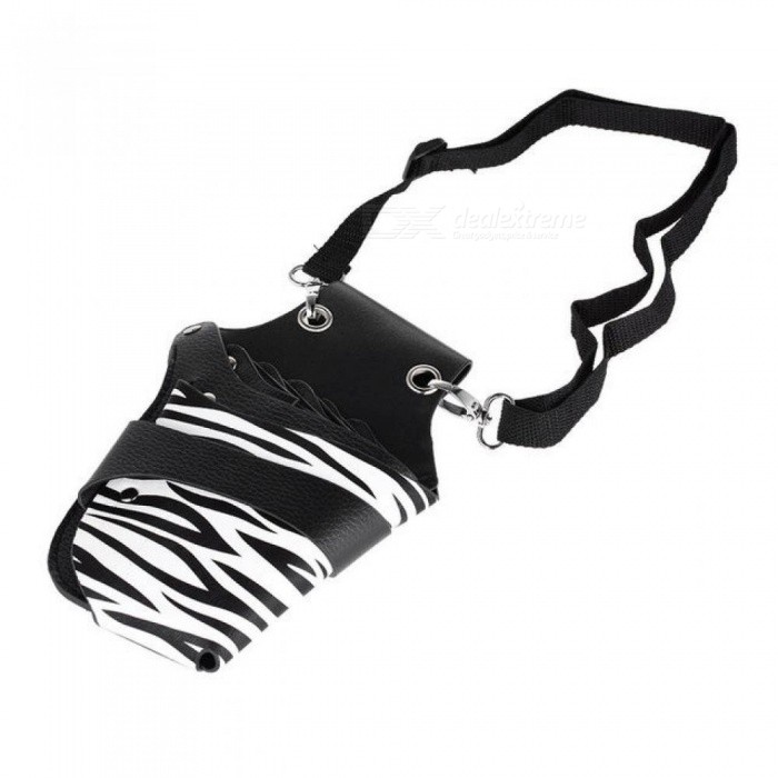 Buy PU Leather Rivet Clips Hair Scissor Holster Salon Hairdressing Pouch Holder Bag for Hair Stylist with Waist Shoulder Belt Black with Litecoins with Free Shipping on Gipsybee.com