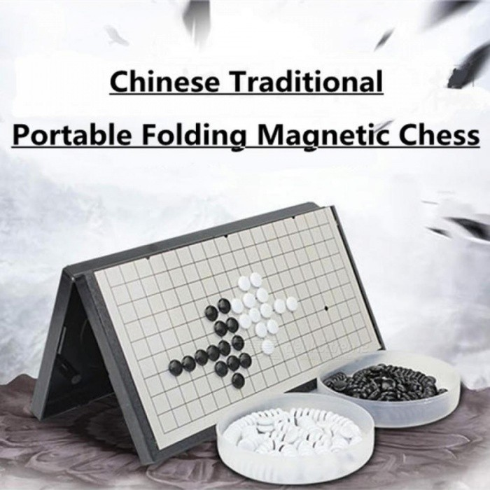Folding Portable Gomoku Gobang Travel Chess Game Board Magnetic Baduk Magnetic Ajedrez Sets Entertainment Parts A