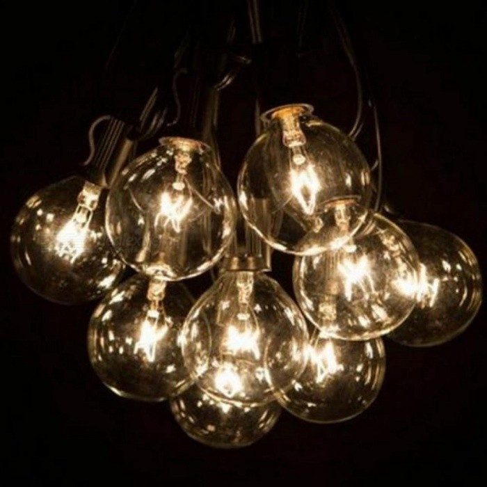 25 Tungsten Lights With Clear Light Cue Decorative Light String Camping Party Patio Decorative Lighting Clear Light