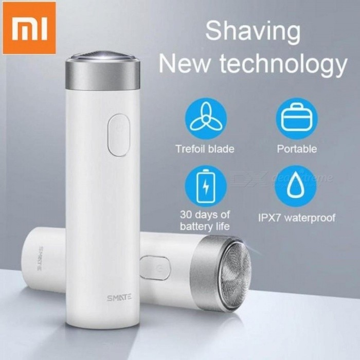 Xiaomi Smate Electric Shaver For Men Rechargeable Turbine Razor Shaver Waterproof Beard Trimmer Shaving With Charging Indicator Gold