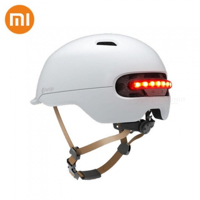 Xiaomi Smart4u Waterproof Bicycle Smart Flash Helmets Matte Long Use Helmet Back Light Mountain Road Scooter For Men Women