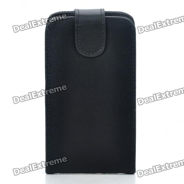 Buy Protective Genuine Leather Cover Plastic Case for Samsung i9100 Galaxy S II - Black with Litecoins with Free Shipping on Gipsybee.com