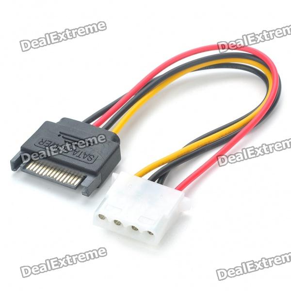 SATA to Molex Power Converter Cable - Multicolored (15cm)