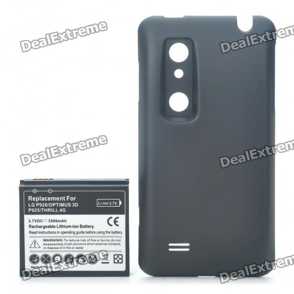 replacement 3500mah 3 7v extended battery pack cover for lg p920 rh dx com