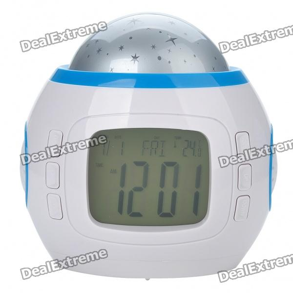 "2.0"" LCD Music and Starry Sky Fashionable Alarm Clock w/ Calendar/Thermometer (3 x AAA)"