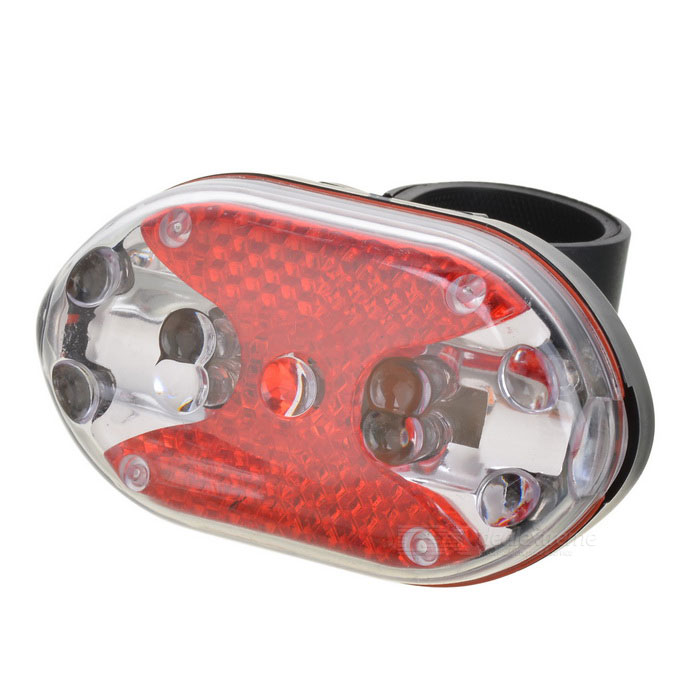 5-LED 7-Mode Red Waterproof Bicycle Safety Tail Light Set