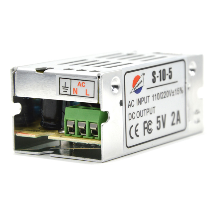 S-10-5 5V 2A Regulated Switching Power Supply - Silver (110~220V)