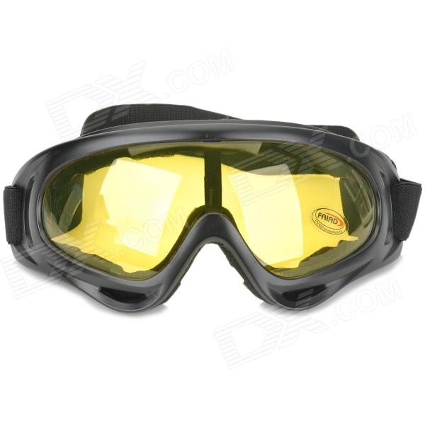 Tactical Outdoor War Game UV400 Protection Goggles - Black + Yellow