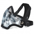 Cool Outdoor Mouth Protection Metal Mesh Shield - Black + White